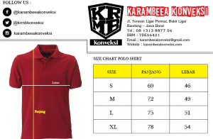 size chart polo shirt